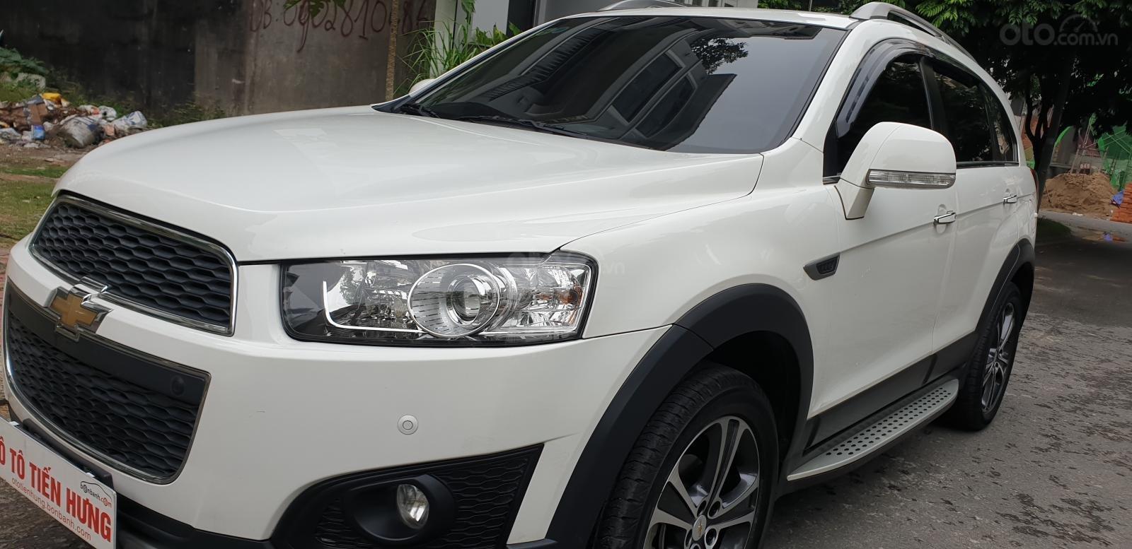 Bán Chevrolet Captiva LTZ máy Ecotec số tự động model 2016, SX T12/ 2015, màu trắng, đẹp mới 90% (1)