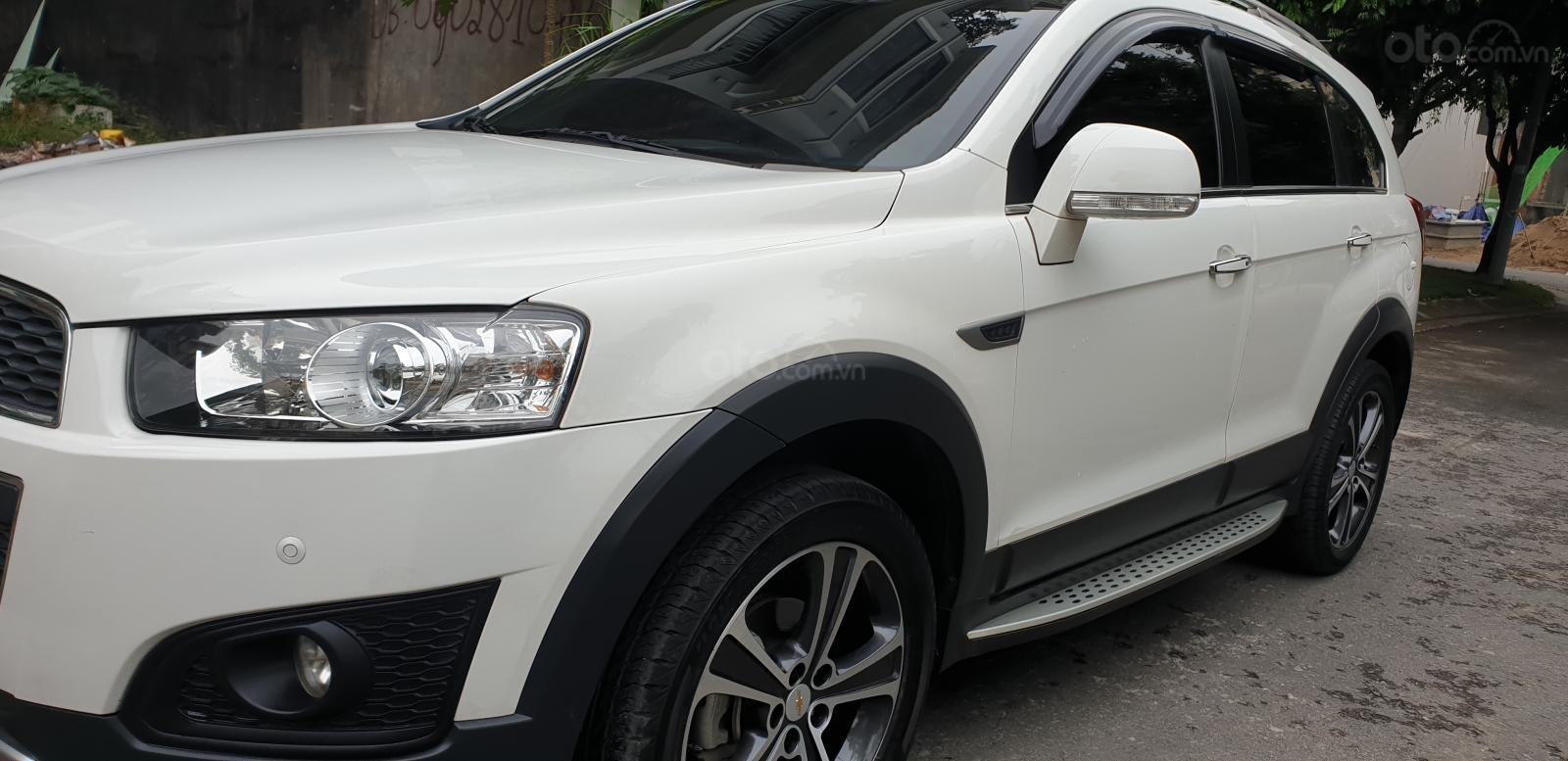 Bán Chevrolet Captiva LTZ máy Ecotec số tự động model 2016, SX T12/ 2015, màu trắng, đẹp mới 90% (2)