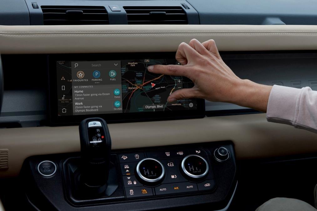 Màn hình chính Land Rover Defender 2020