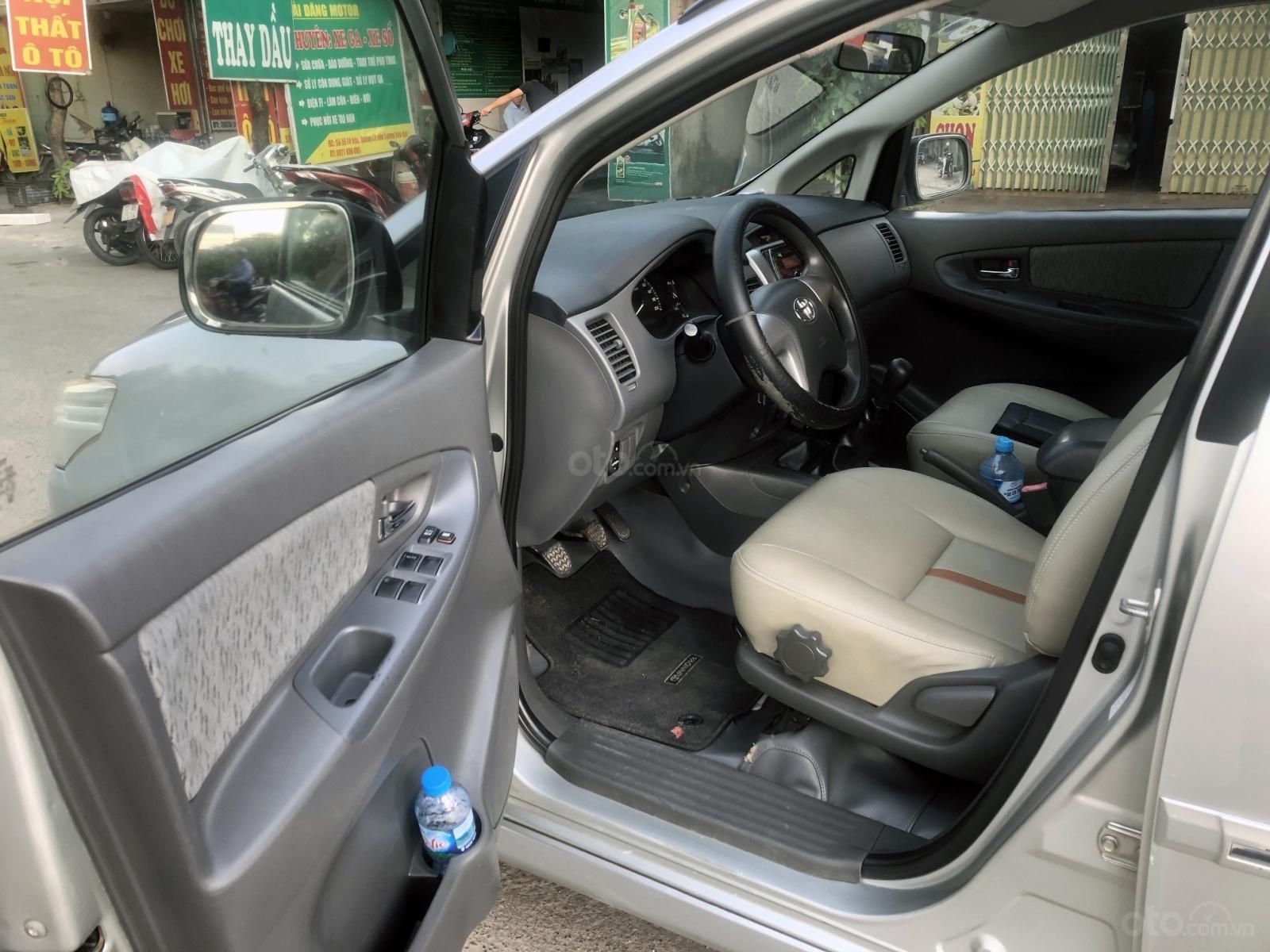 Bán ô tô Toyota Innova 2.0 MT đời 2012, màu bạc, biển Hà Nội, không chạy dịch vụ (6)
