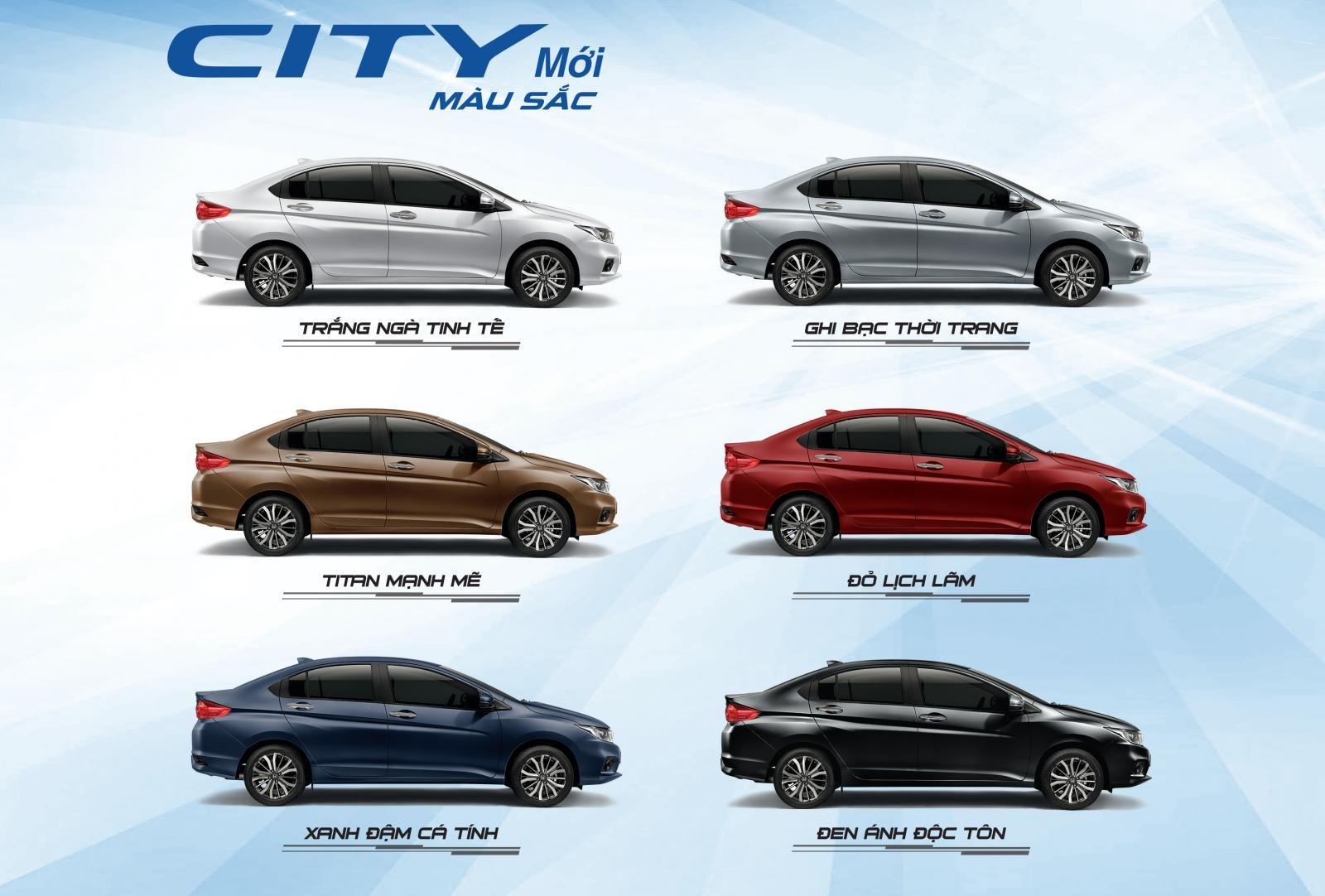 Màu xe Honda City tại Việt Nam...