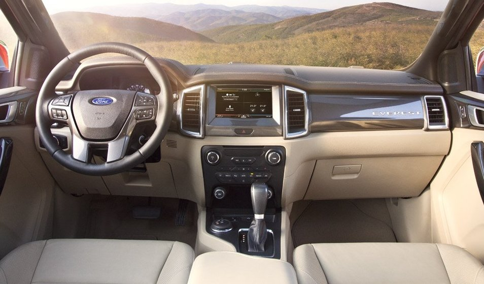 Nội thất của Ford Everest 2019.
