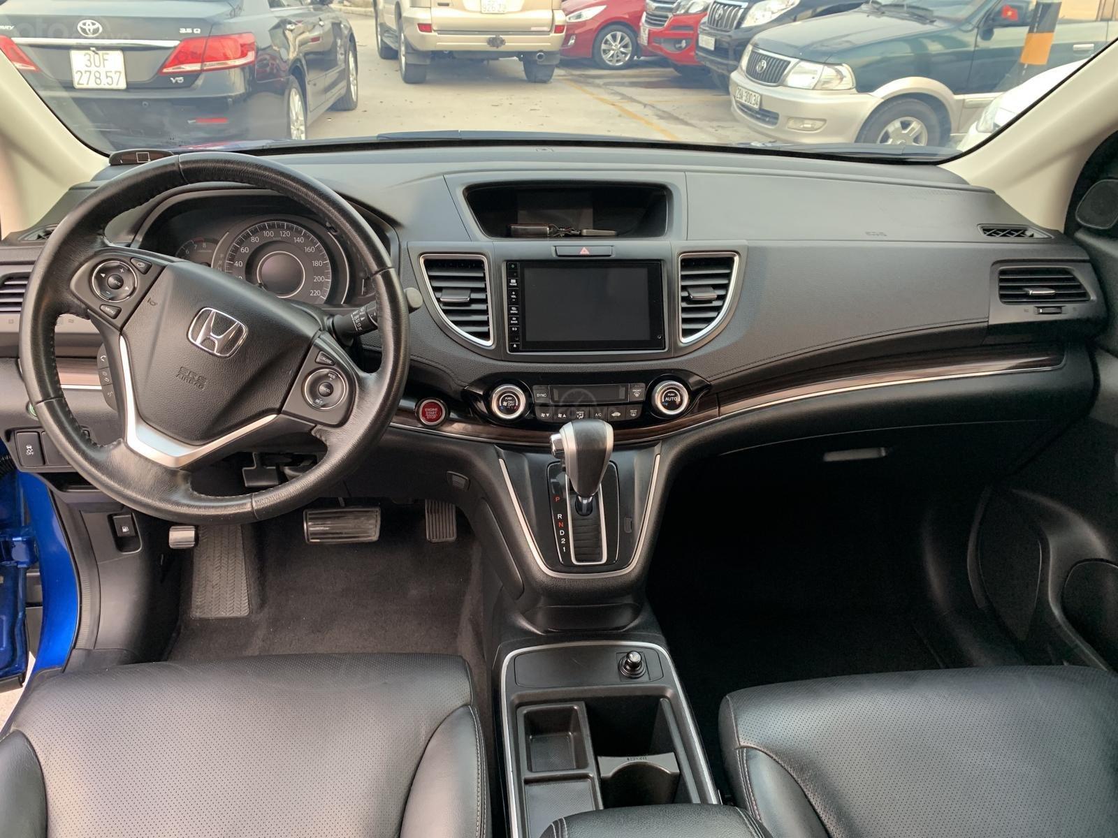 Bán Honda CR V 2.4 2015, màu xanh lam (7)