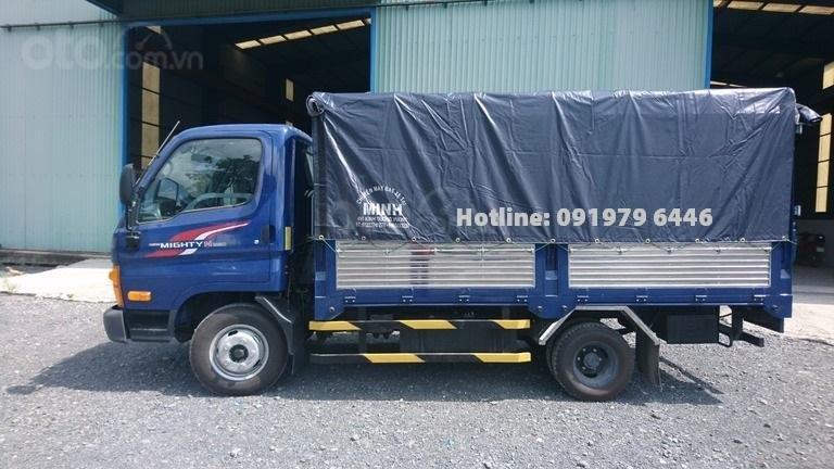 Bán ô tô Hyundai N250SL-2,4T thùng bạt năm 2019, màu xanh lam (5)
