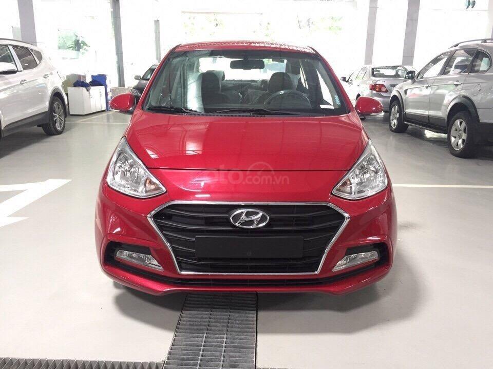 Bán Hyundai Grand i10 Sedan AT đời 2019 xe mới, màu đỏ, giá chỉ 398 triệu (1)