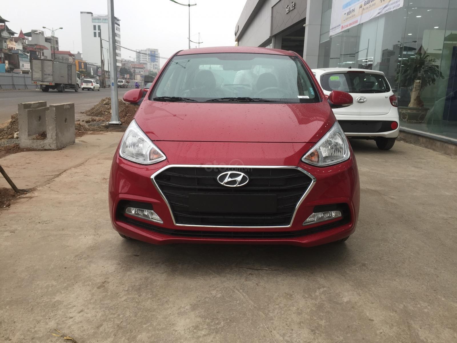 Bán xe Hyundai Grand i10 Sedan MT sản xuất 2019, màu đỏ, xe sẵn giao ngay (1)
