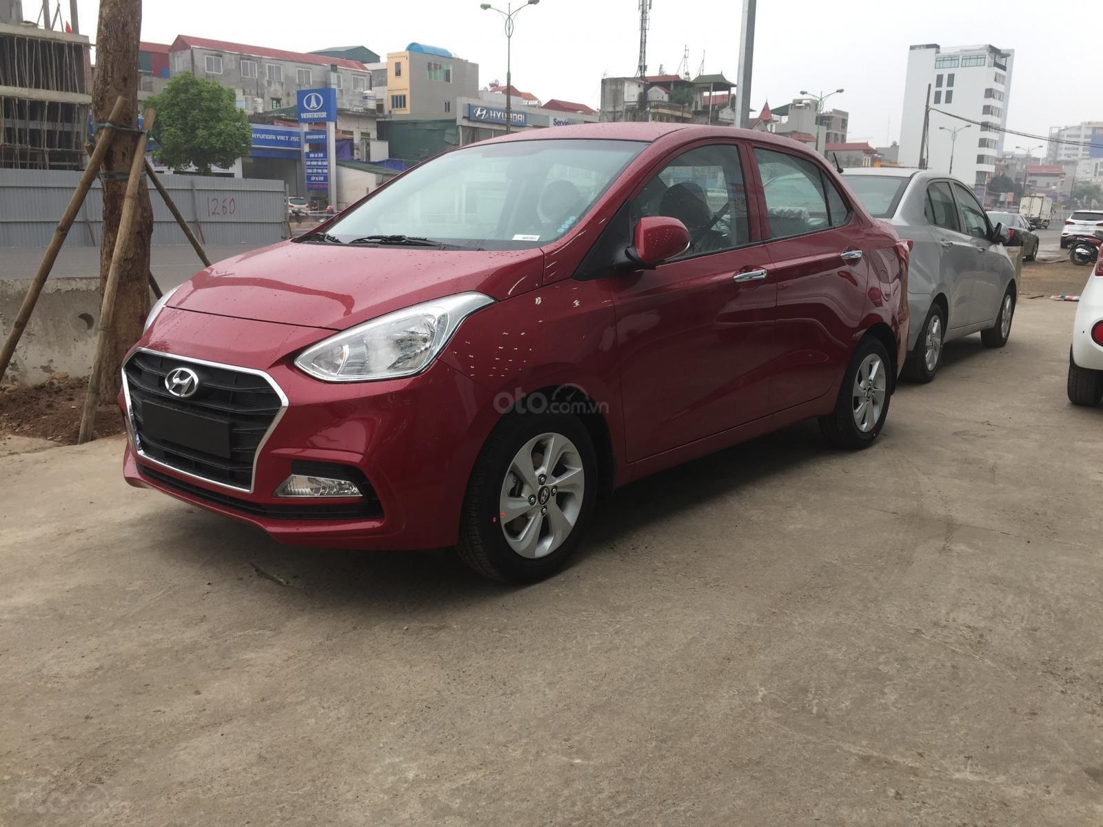 Bán xe Hyundai Grand i10 Sedan MT sản xuất 2019, màu đỏ, xe sẵn giao ngay (3)