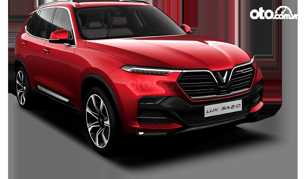 Cần bán xe VinFast LUX SA2.0 bản tiêu chuẩn màu đỏ (2)