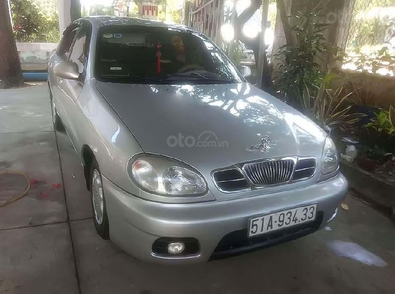 Bán xe Daewoo Lanos SX sản xuất 2002, màu bạc (1)