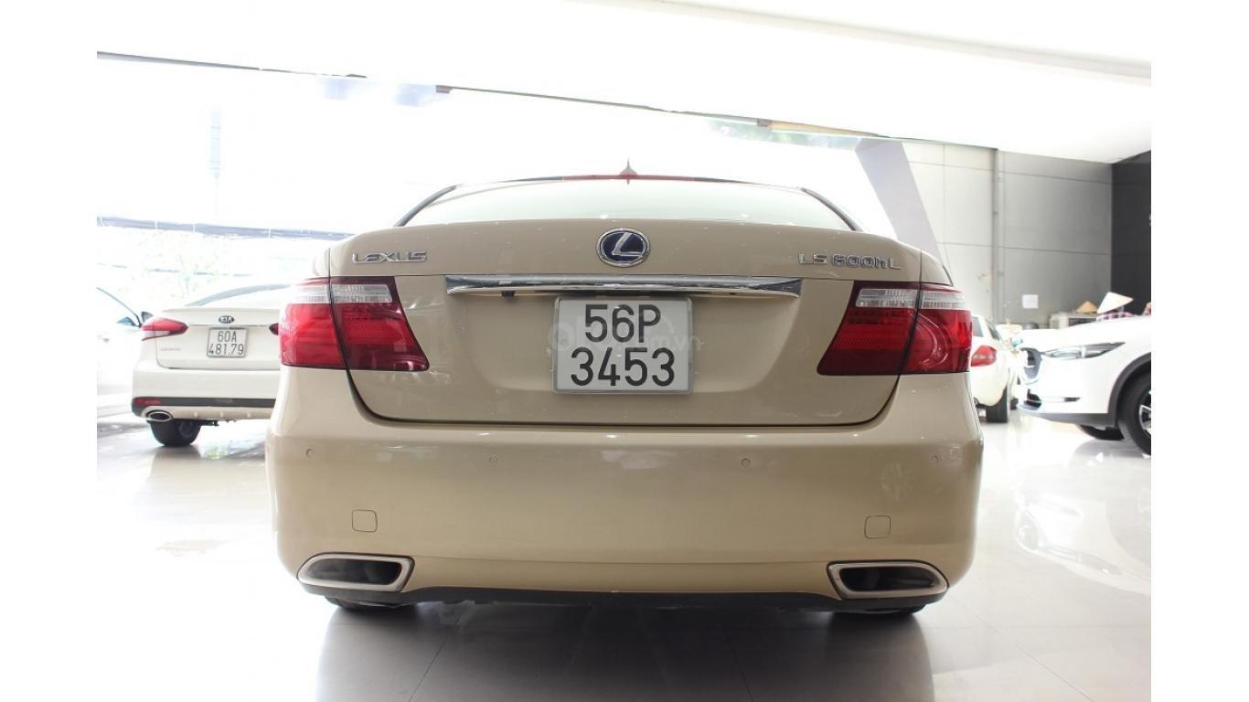 HCM: Lexus LS 600HL 5.0 AT 2010, màu vàng, xe nhập (5)