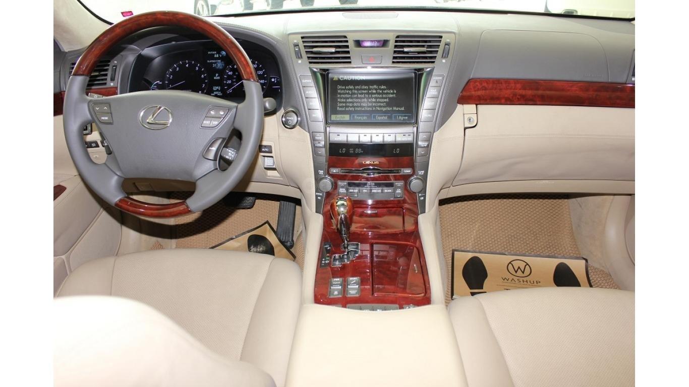 HCM: Lexus LS 600HL 5.0 AT 2010, màu vàng, xe nhập (9)