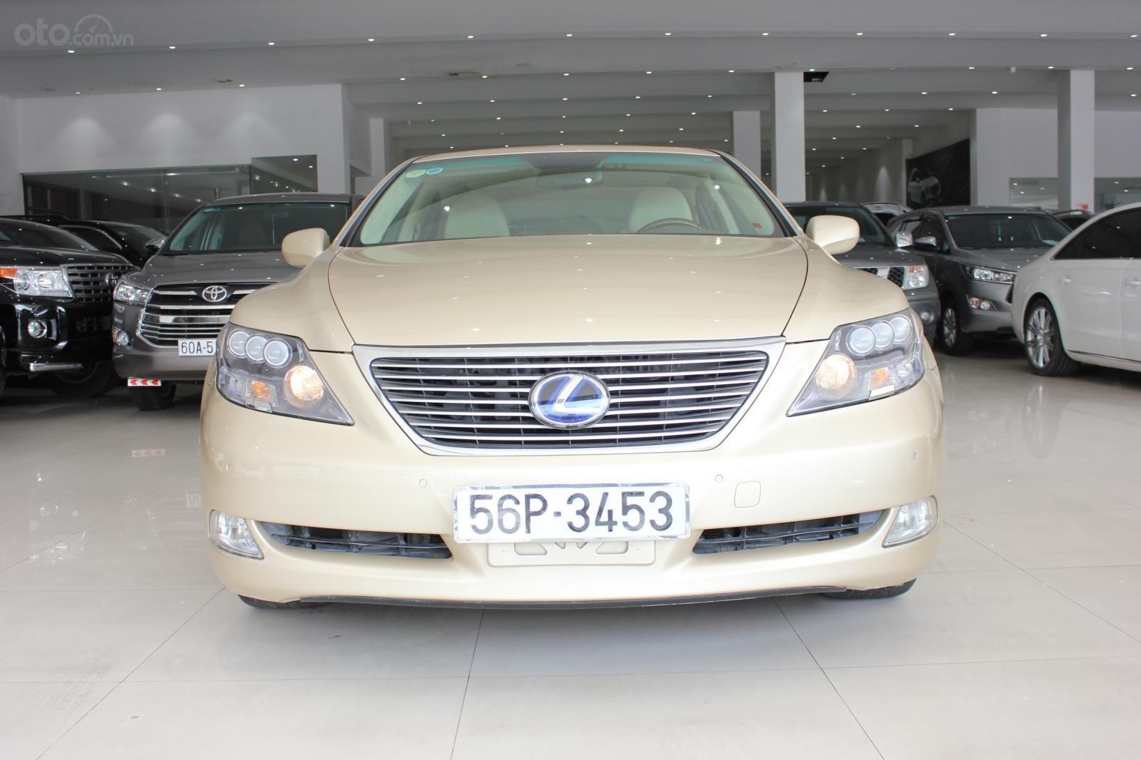 Cần bán xe Lexus LS 600HL 5.0 xăng điện 2008, màu vàng, nhập khẩu (2)