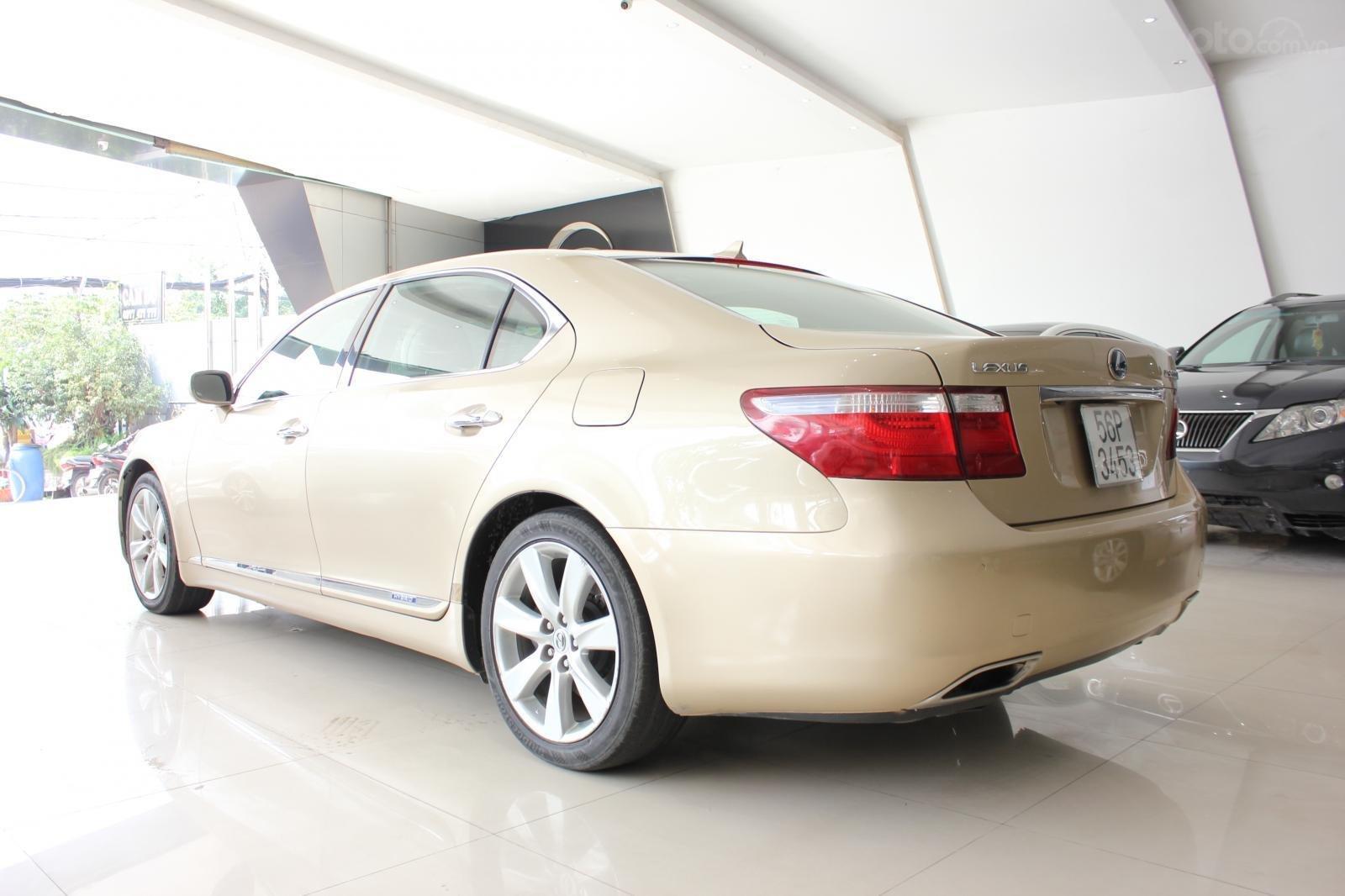Cần bán xe Lexus LS 600HL 5.0 xăng điện 2008, màu vàng, nhập khẩu (6)