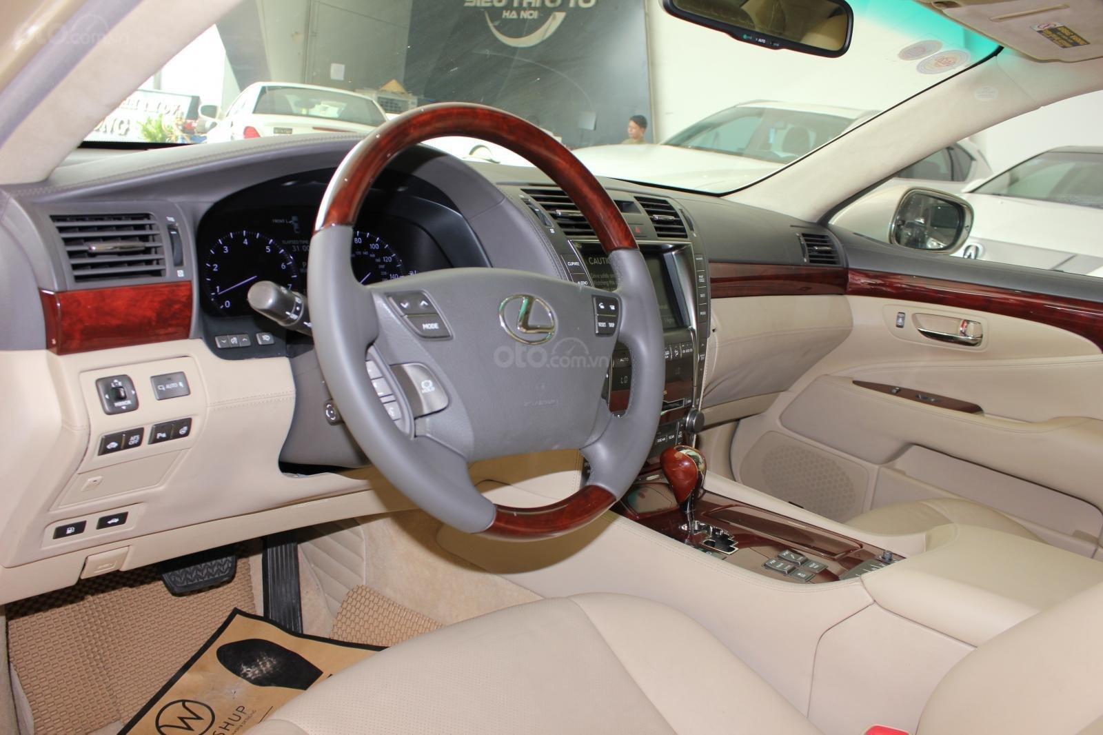 Cần bán xe Lexus LS 600HL 5.0 xăng điện 2008, màu vàng, nhập khẩu (7)