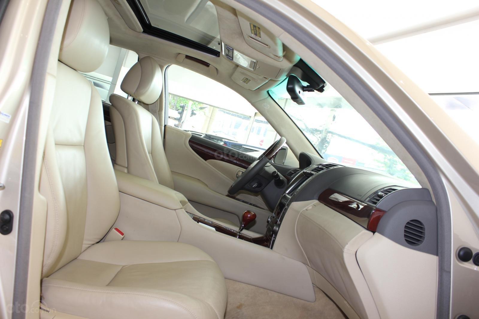 Cần bán xe Lexus LS 600HL 5.0 xăng điện 2008, màu vàng, nhập khẩu (18)