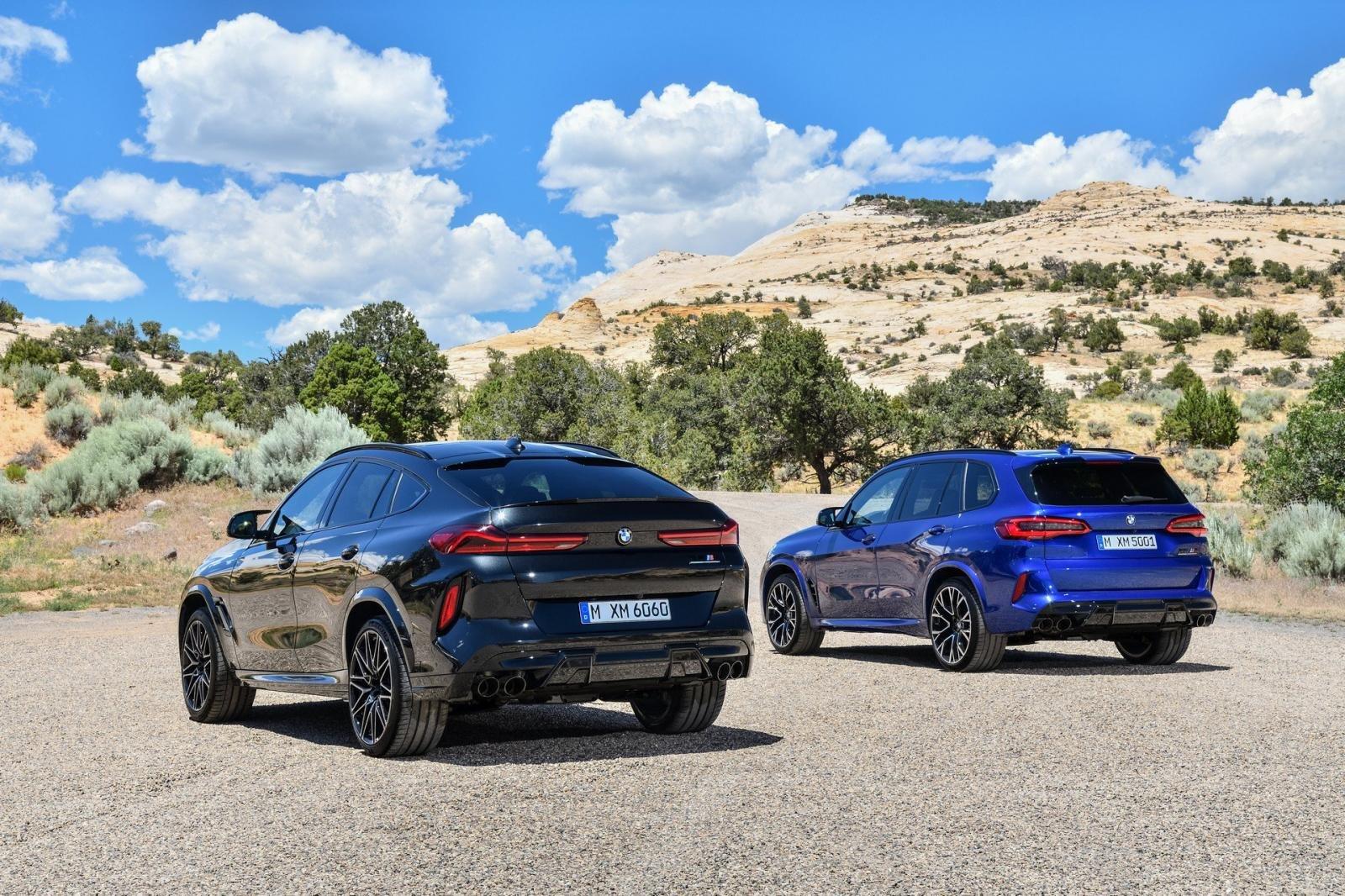Đuôi xe BMW X5 M và X6 M 2020