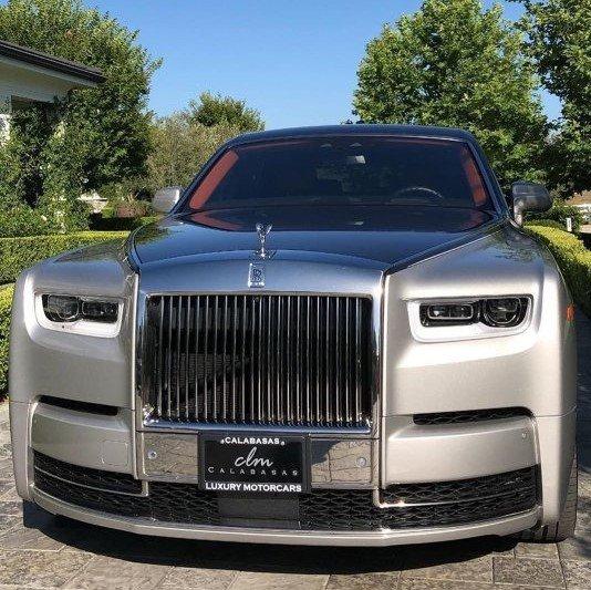 Chiếc Rolls-Royce Phantom mới được Kylie tậu vào hồi tháng 7 vừa qua.
