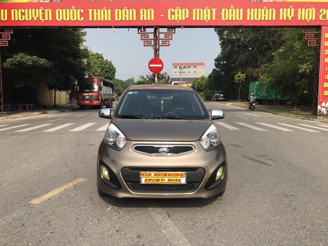 Bán ô tô Kia Morning Sport đời 2011, màu nâu, nhập khẩu, bản full 8 túi khí, đề nồ start, xe tuyển (1)