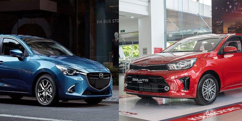 So sánh xe Kia Soluto 2019 và Mazda 2 2019.