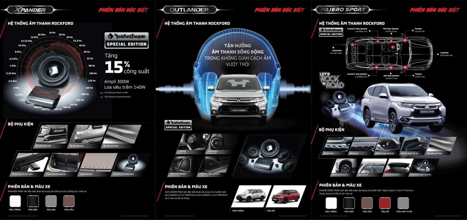 Chính thức: Mitsubishi Xpander, Outlander và Pajero Sport bản đặc biệt ra mắt a2