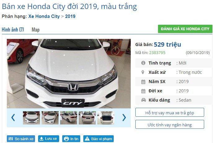 Cận cảnh phiên bản Honda City 2019 giá rẻ mới tại đại lý - Ảnh 1.