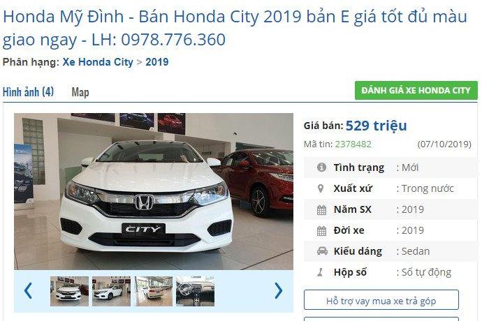 Cận cảnh phiên bản Honda City 2019 giá rẻ mới tại đại lý - Ảnh 2.