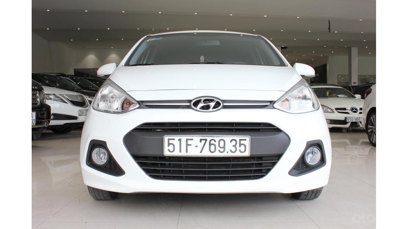 Cần bán xe Hyundai Grand i10 1.2 AT 2016, trả trước chỉ từ 115tr. Hotline 0985.190491 Ngọc (1)