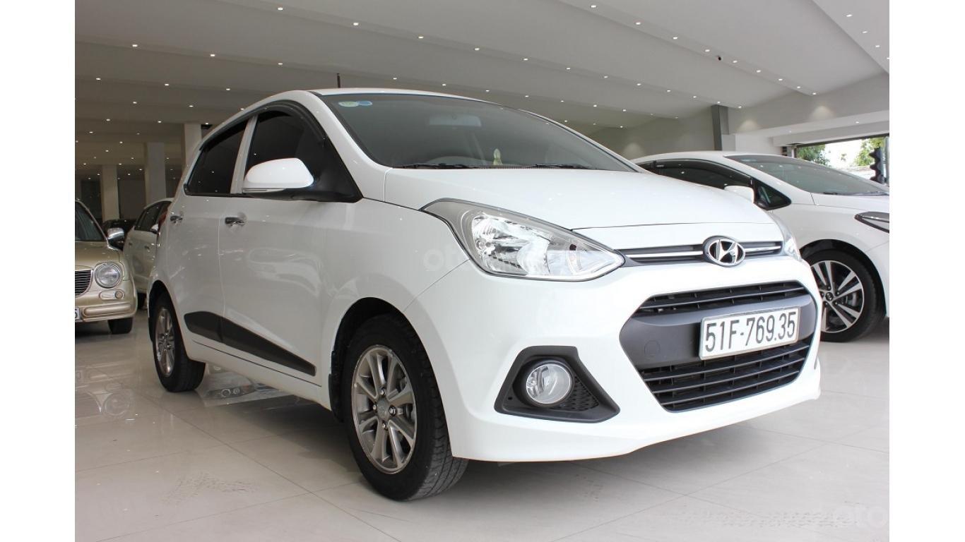 Cần bán xe Hyundai Grand i10 1.2 AT 2016, trả trước chỉ từ 115tr. Hotline 0985.190491 Ngọc (2)