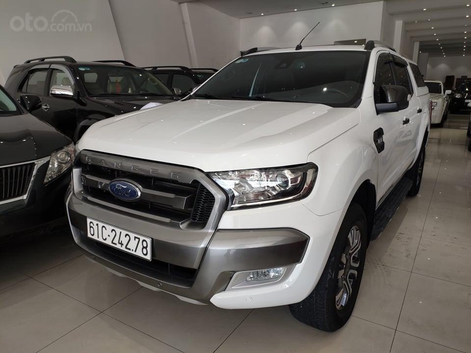 Bán Ford Ranger 3.2L Wildtrak 4x4 AT đời 2016, màu trắng, nhập khẩu nguyên chiếc, giá tốt (1)
