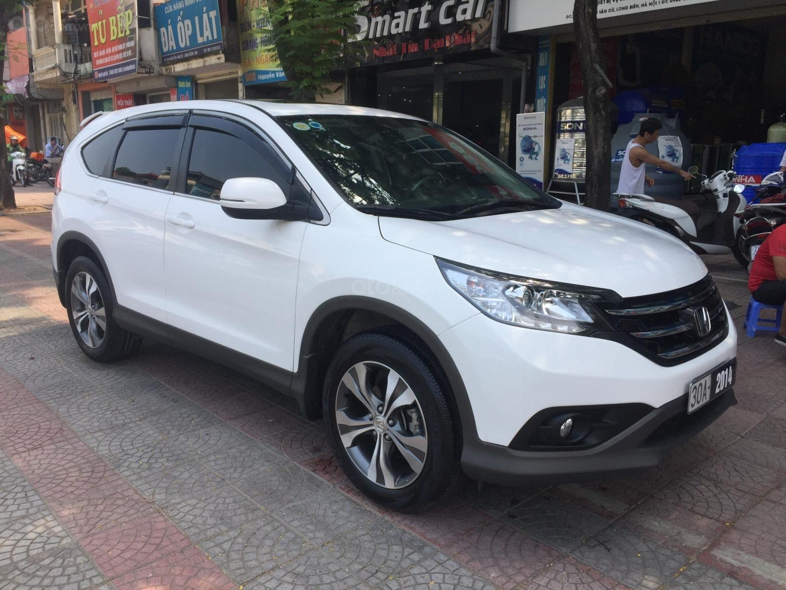 Cần bán xe Honda CR V 2.4 đời 2014, màu trắng (2)