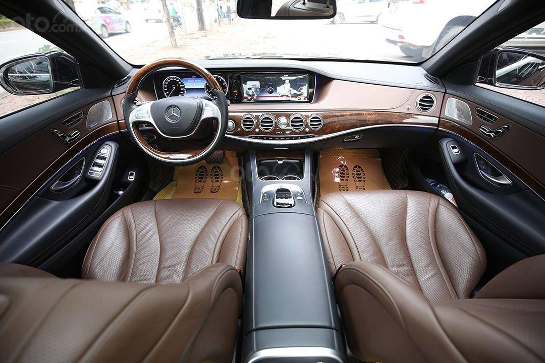 Cần bán xe Mercedes S400 năm sản xuất 2016, màu đen nội thất nâu (9)