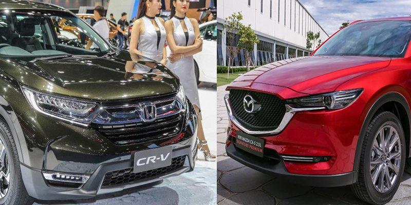 """Honda CR-V và Mazda CX-5 trong """"hành trình"""" chinh phục vị trí No.1 phân khúc CUV."""