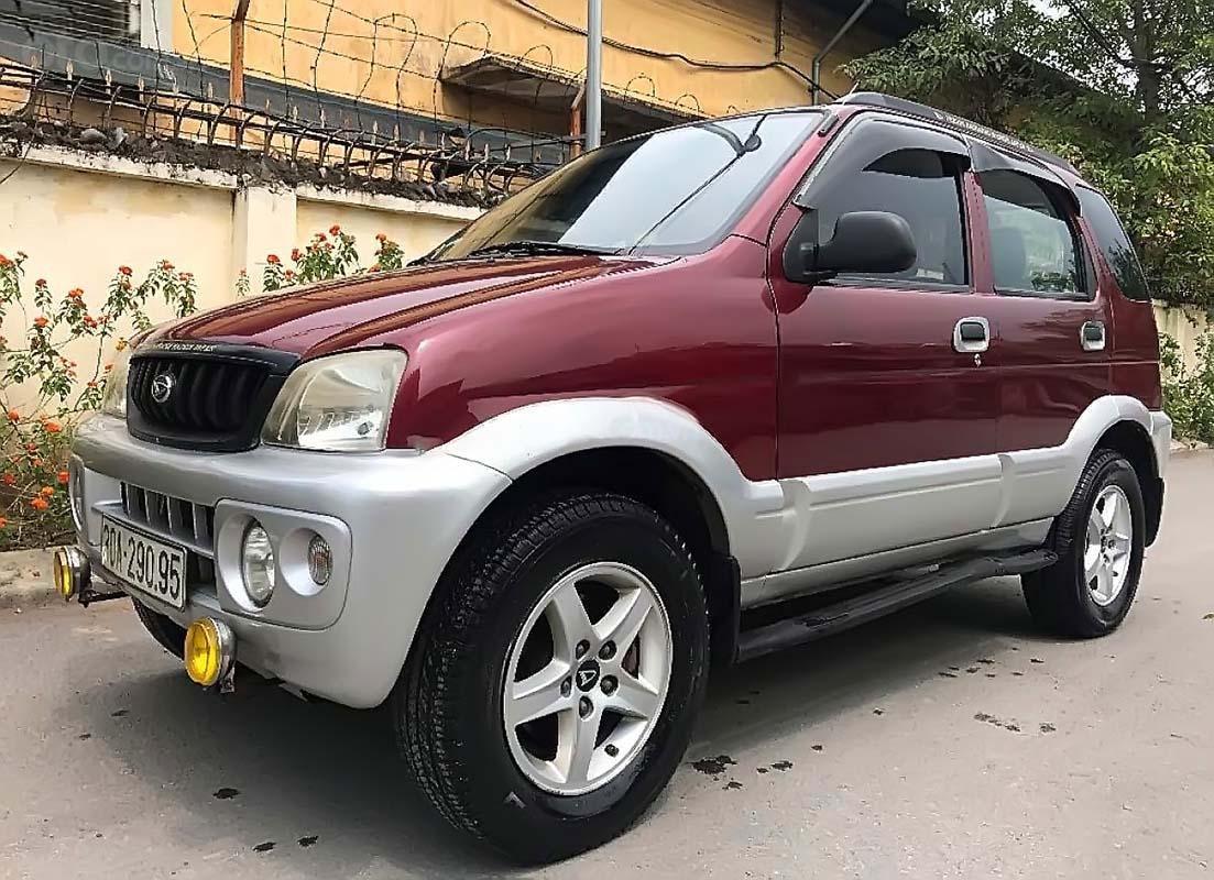 Bán Daihatsu Terios 4x4 MT 2004, màu đỏ, nhập khẩu, số sàn  (3)