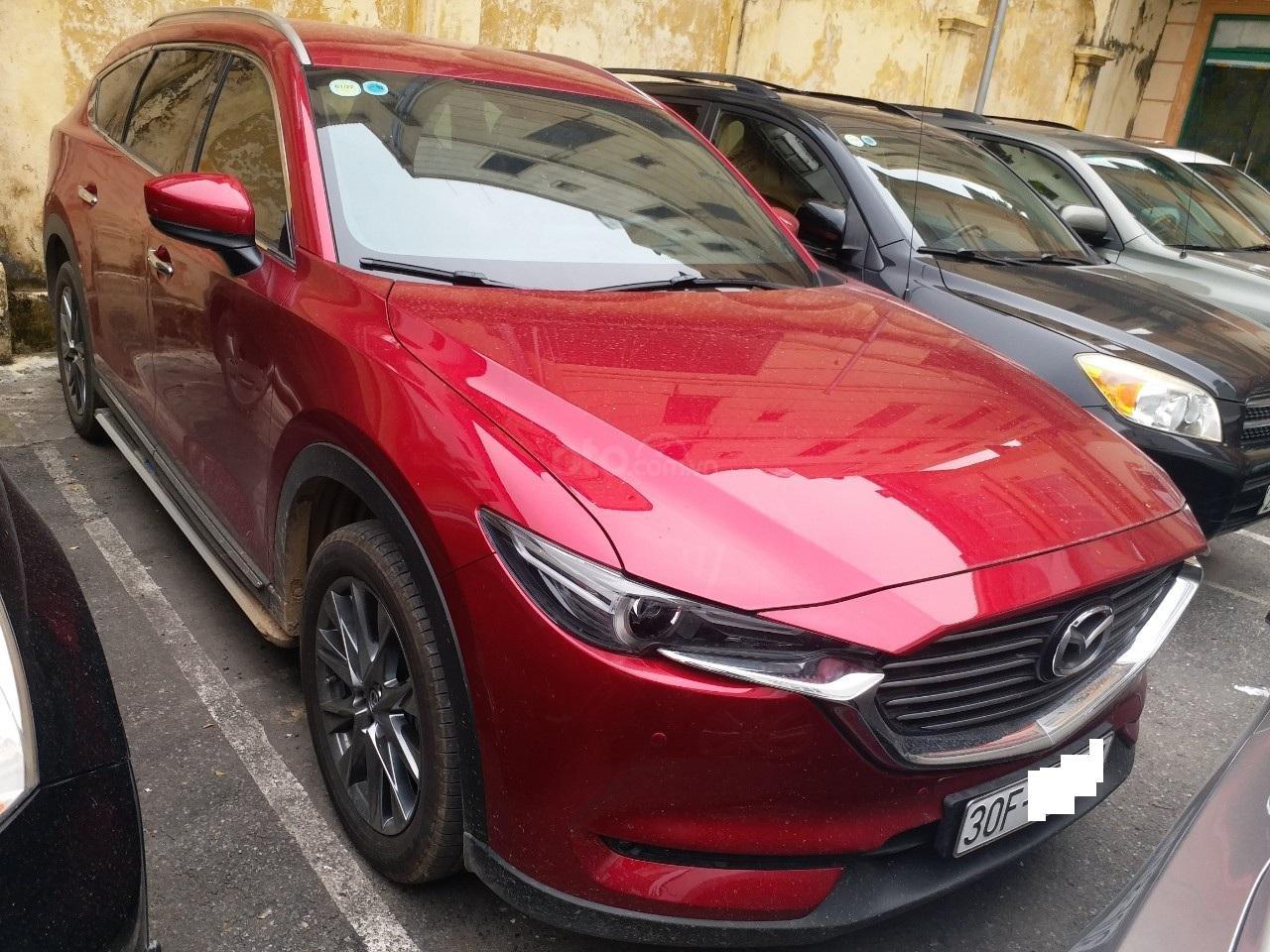 Mazda CX8 2.5 Luxury màu đỏ, sản xuất và đăng ký tháng 09/2019, biển Hà Nội (1)
