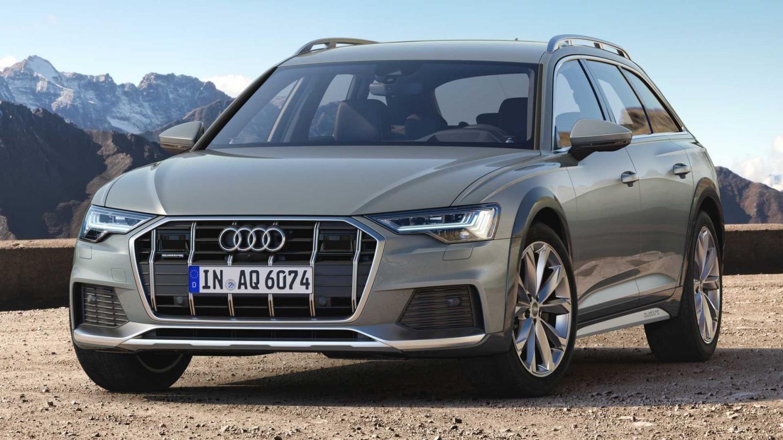 Audi A6 Allroad 2020 sở hữu lưới tản nhiệt với các thanh chrome sáng bóng.