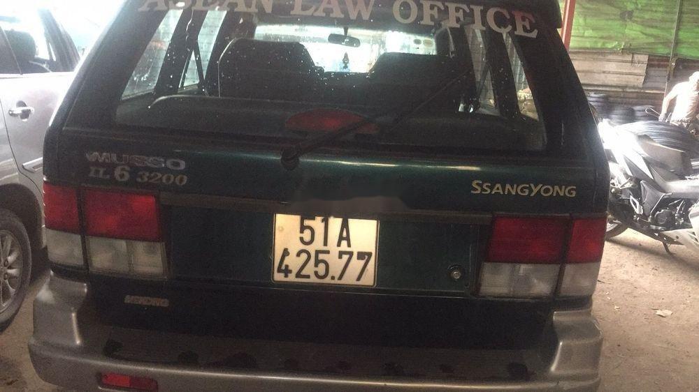 Bán Ssangyong Musso đời 1998, xe nhập, màu xanh lá  (3)