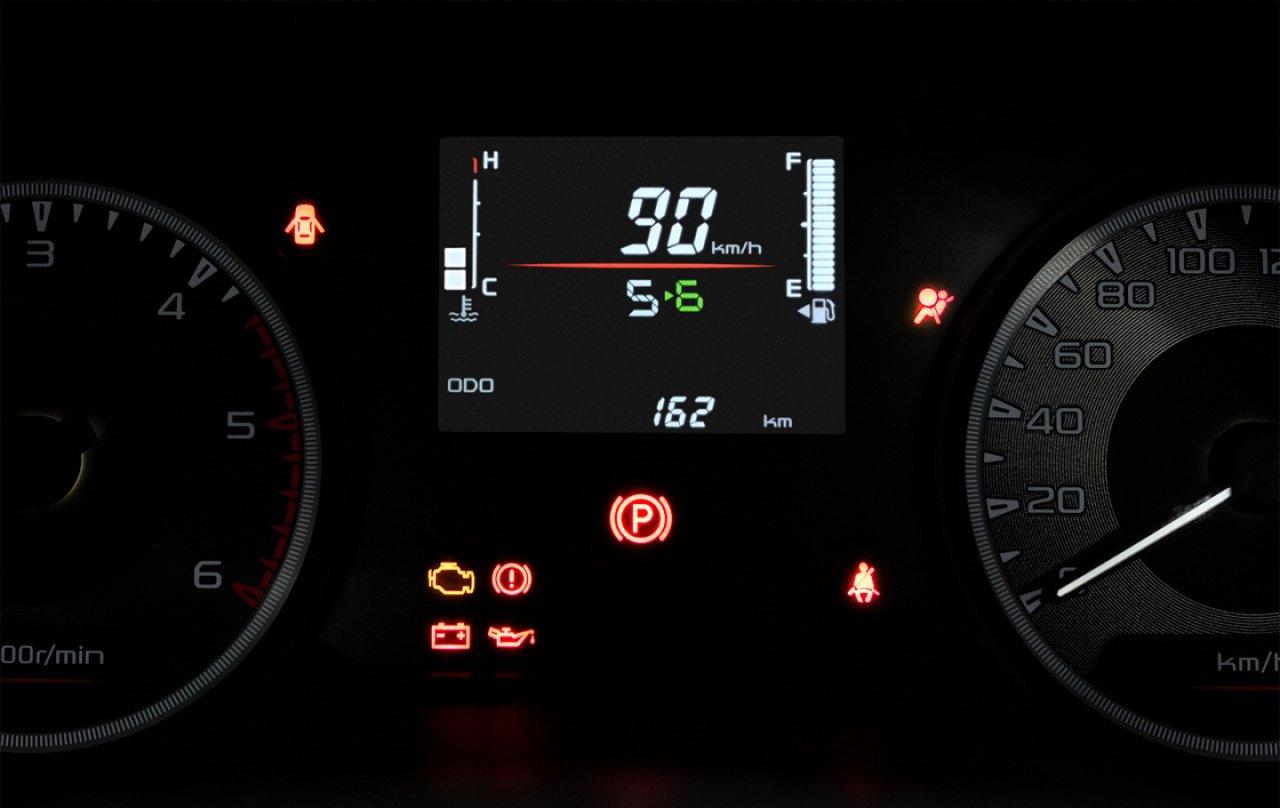 Cận cảnh đồng hồ lái của Isuzu D-Max 2020.