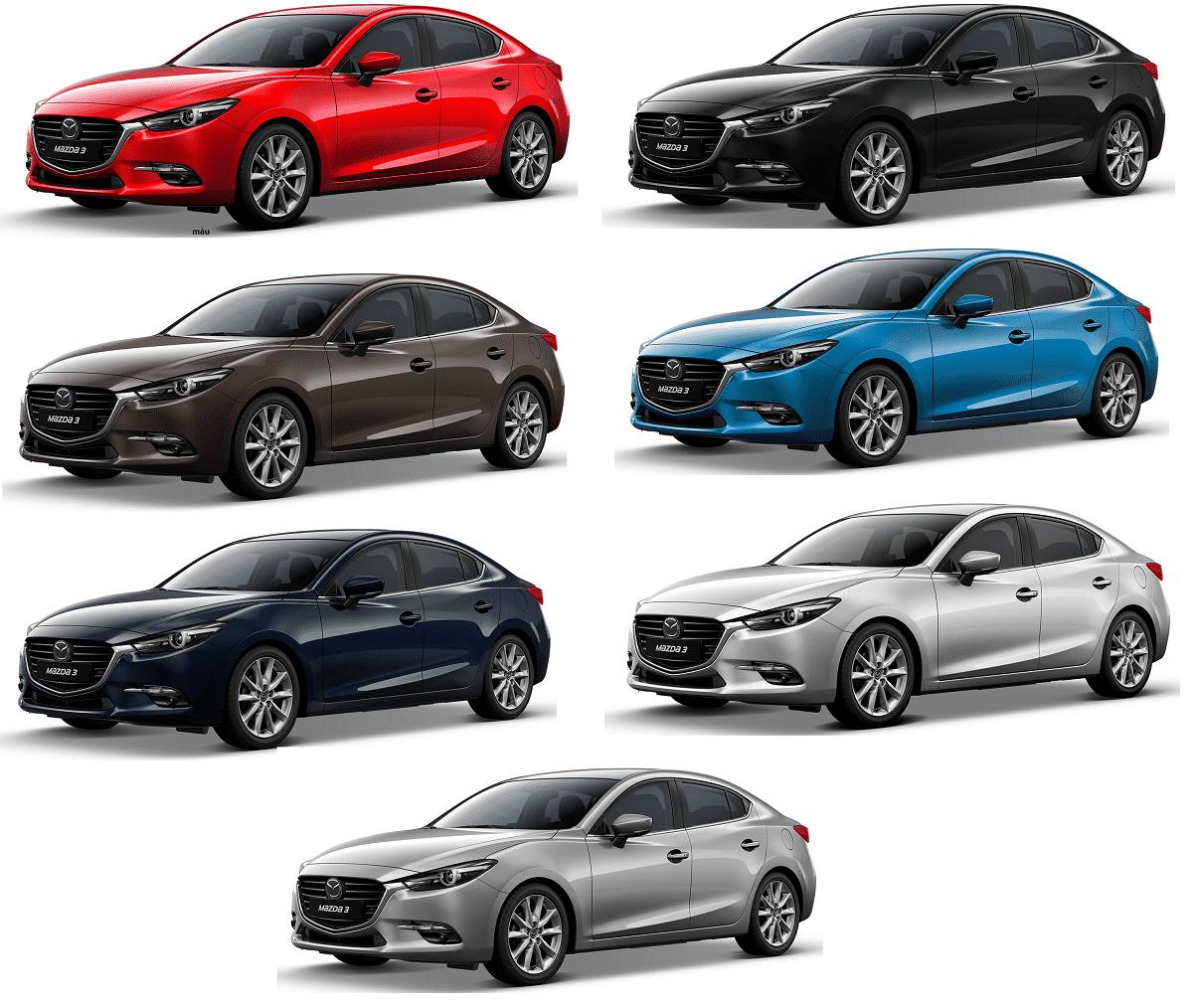 Màu xe Mazda 3 2019