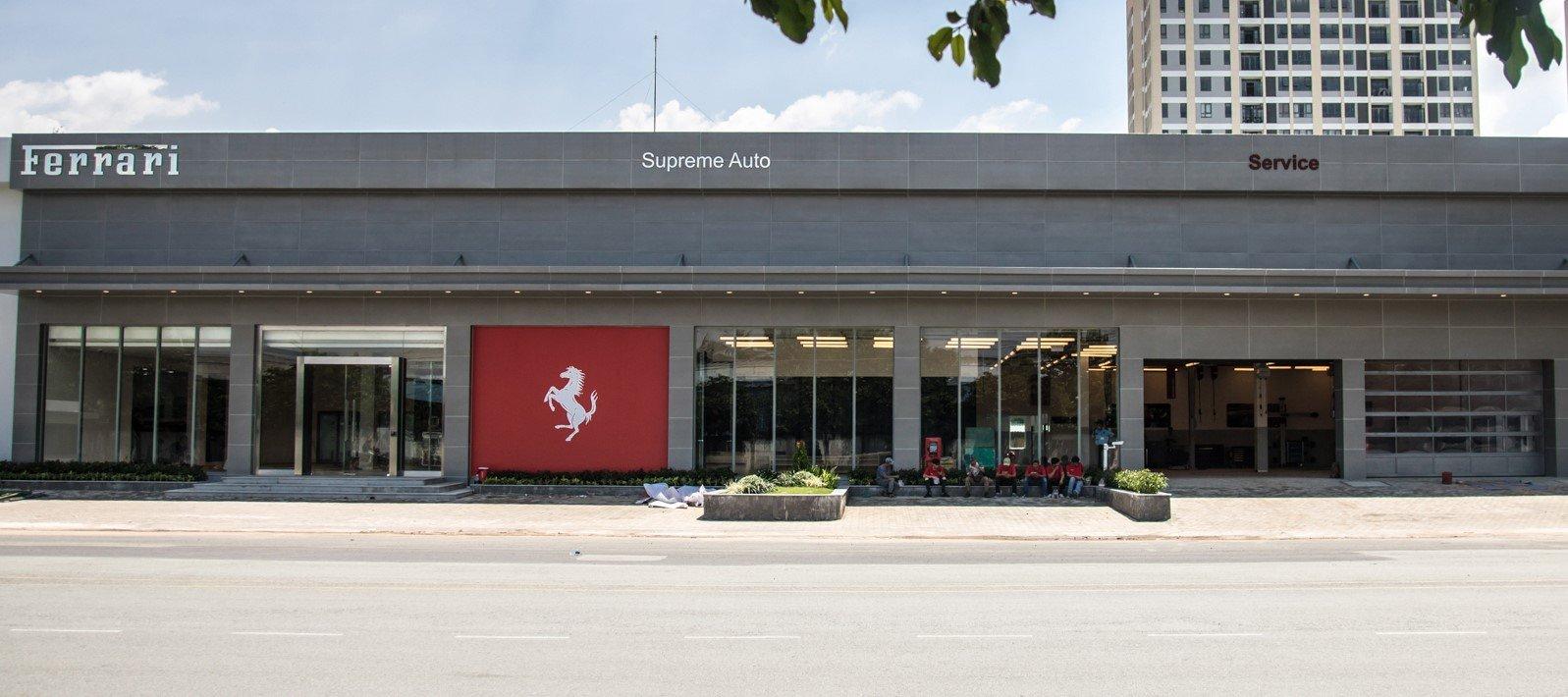Showroom Ferrari chính hãng tại Việt Nam chỉ bán xe cũ.