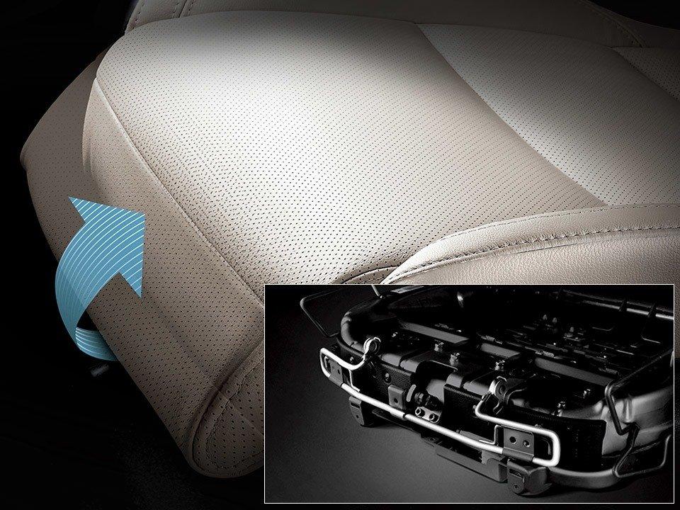Ghế ngồi có đệm đỡ bắp chân chỉnh điện Kia Rondo 2019 1
