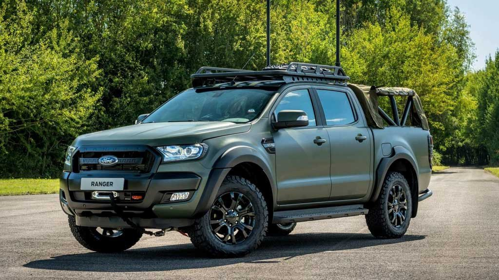 Ford Ranger Bi-Turbo thiện chiến với bản độ đậm chất nhà binh a1