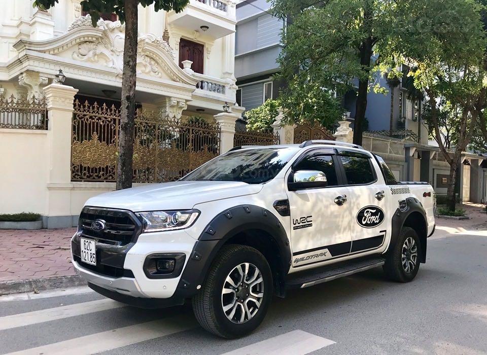 Cần bán lại xe Ford Ranger đăng ký lần đầu 2018, màu trắng mới 95%, giá 855 triệu đồng (1)