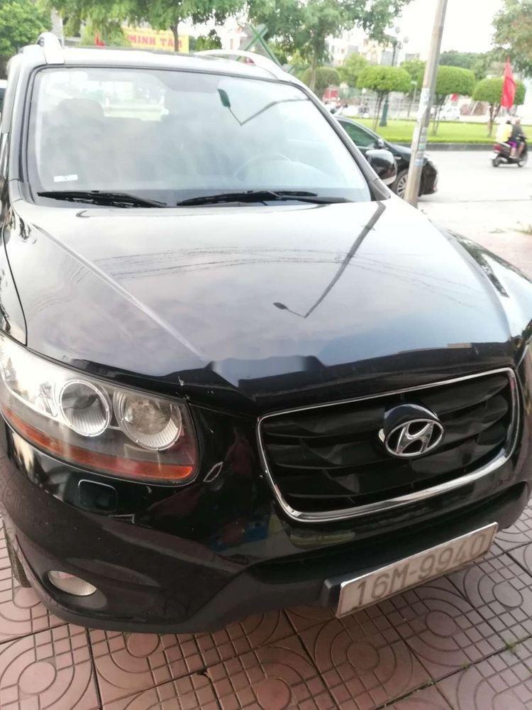 Bán Hyundai Santa Fe đời 2009, màu đen, nhập khẩu nguyên chiếc chính chủ giá cạnh tranh (1)