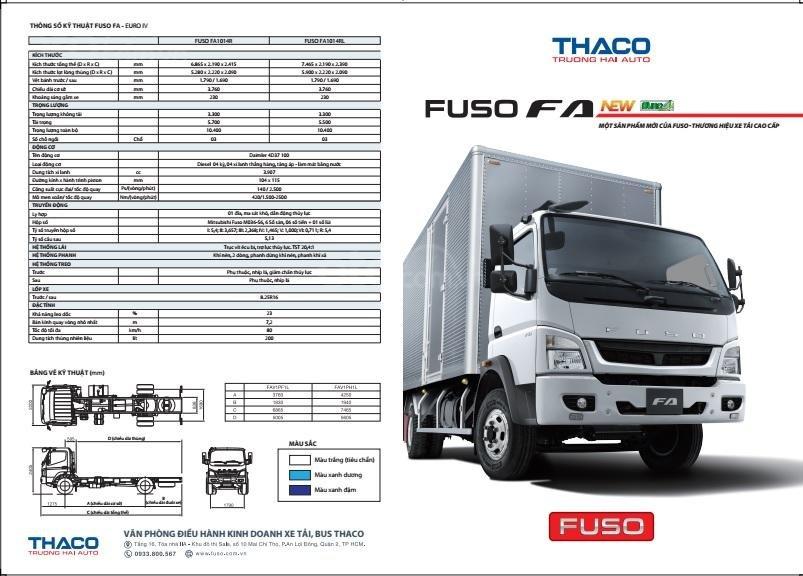 Bán xe tải nhập khẩu Mitsubishi Fuso FA Nhật Bản tải 5.5 tấn, thùng dài 5.28m, đủ các loại thùng (14)