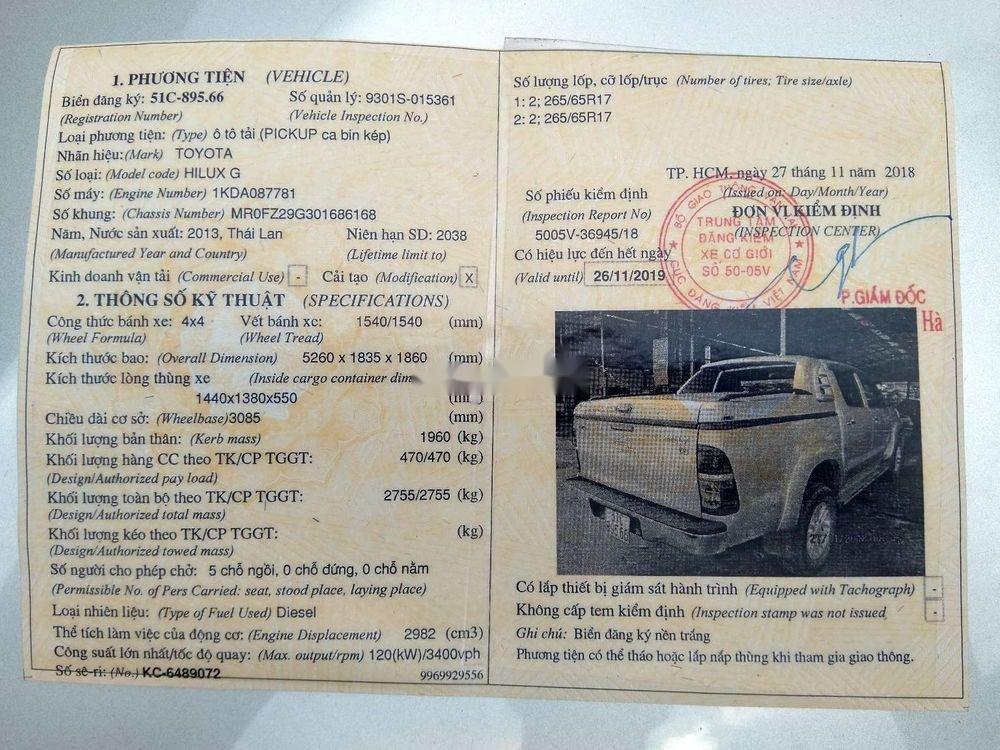 Cần bán lại xe Toyota Hilux 3.0 (4x4) đời 2013, màu bạc, nhập khẩu Thái, chính chủ (10)