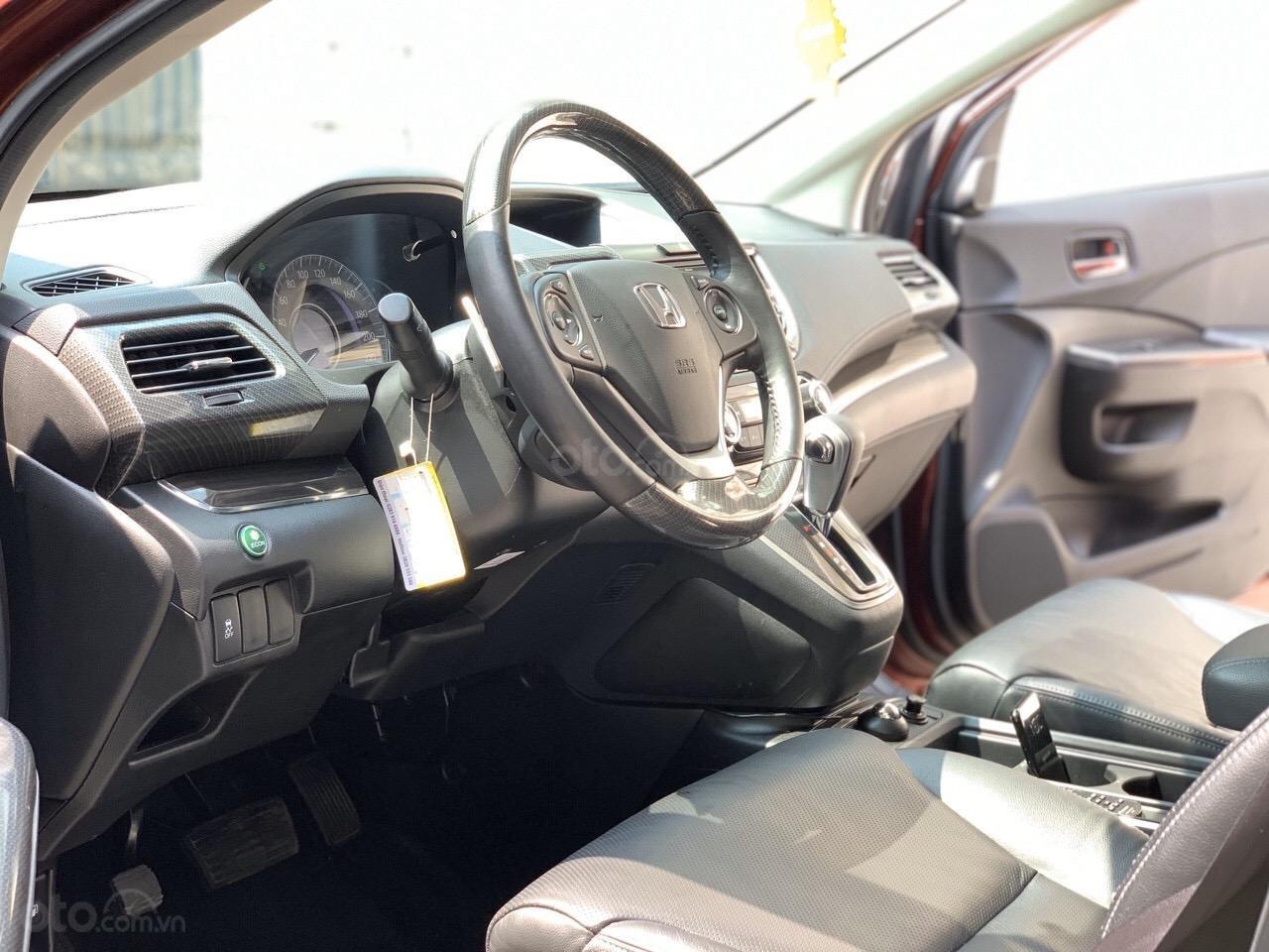 Bán Honda CRV 2.4 bản TG SX 2017 lẫy số vô lăng, xe đen bao check hãng (5)