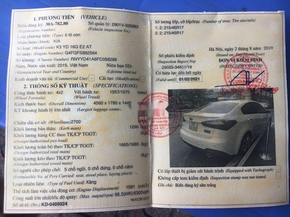 Bán Kia K3 1.6AT 2015 màu trắng, số tự động, giá tốt (9)