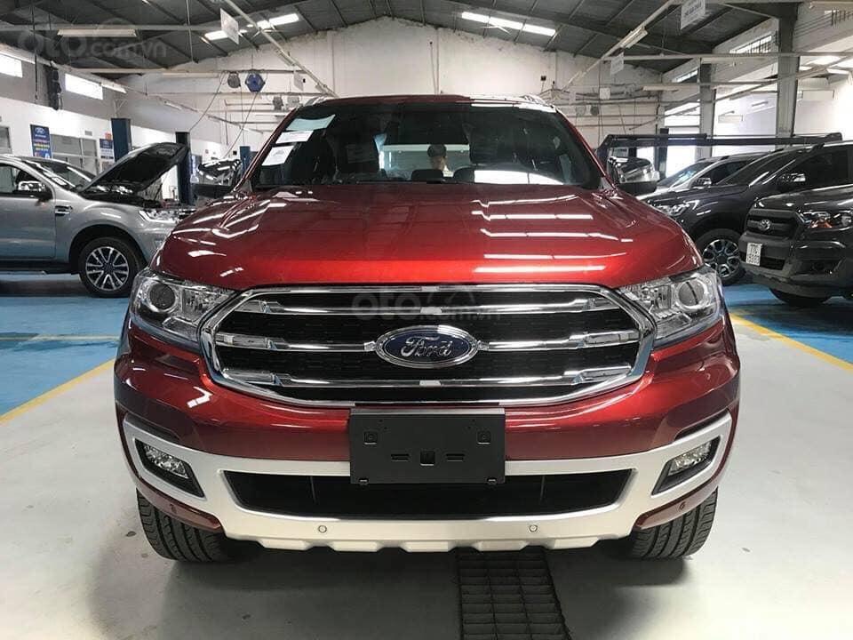 Cần bán xe Ford Everest titanium 2019, màu đỏ, giao xe luôn, hỗ trợ 80% Call 0838936789 (2)