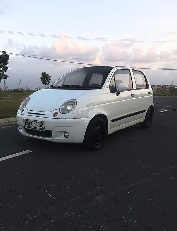 Cần bán lại xe Daewoo Matiz đời 2004, màu trắng (1)