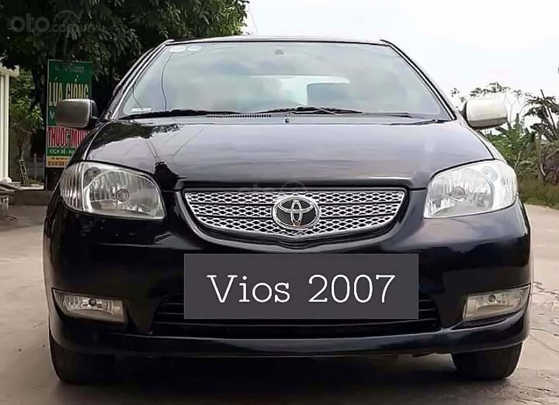 Cần bán lại xe Toyota Vios 2007, màu đen, nhập khẩu nguyên chiếc (2)